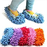 Cute Dust Mop Slippers Shoes Floor Cleaner Clean Easy Bathroom Office Kitchen(Red) by ChineOn