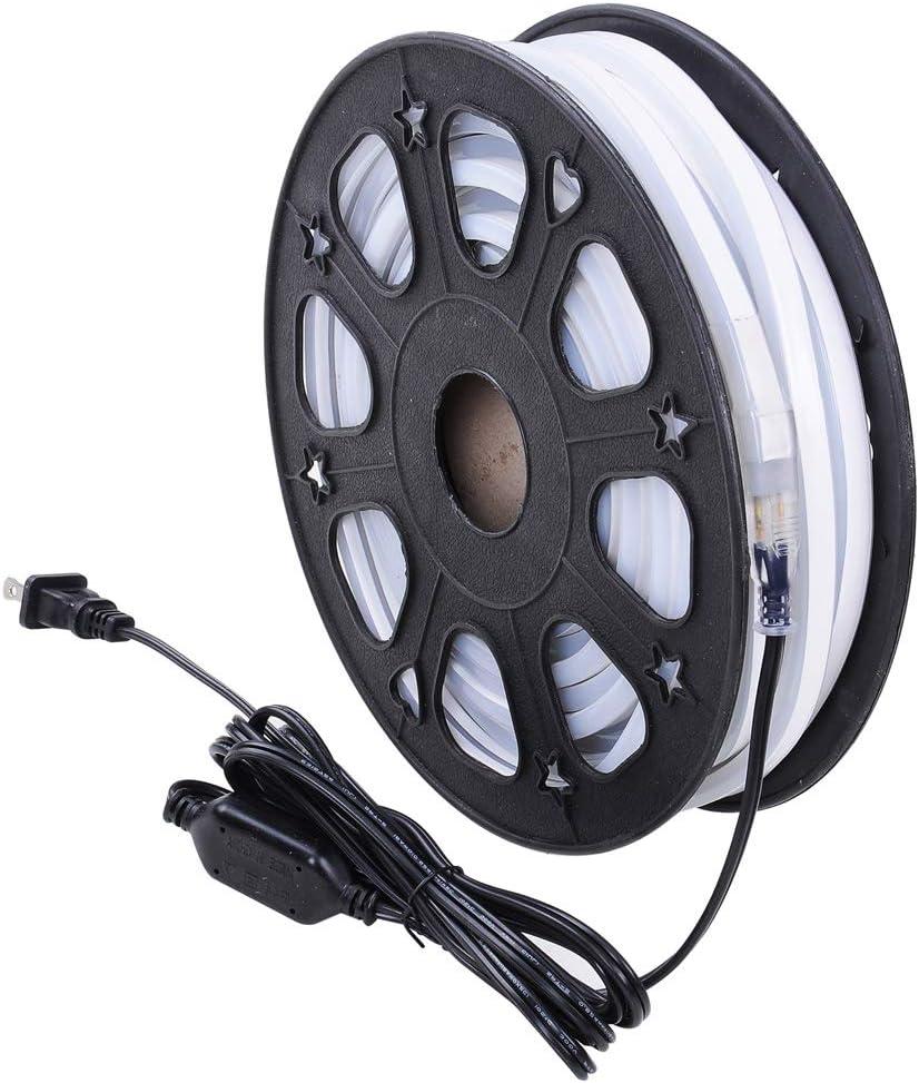 Yescom 50ft Double Sided SMD2835 LED Bulb Flexible Neon Stripe Light DIY Blue Decor Lighting
