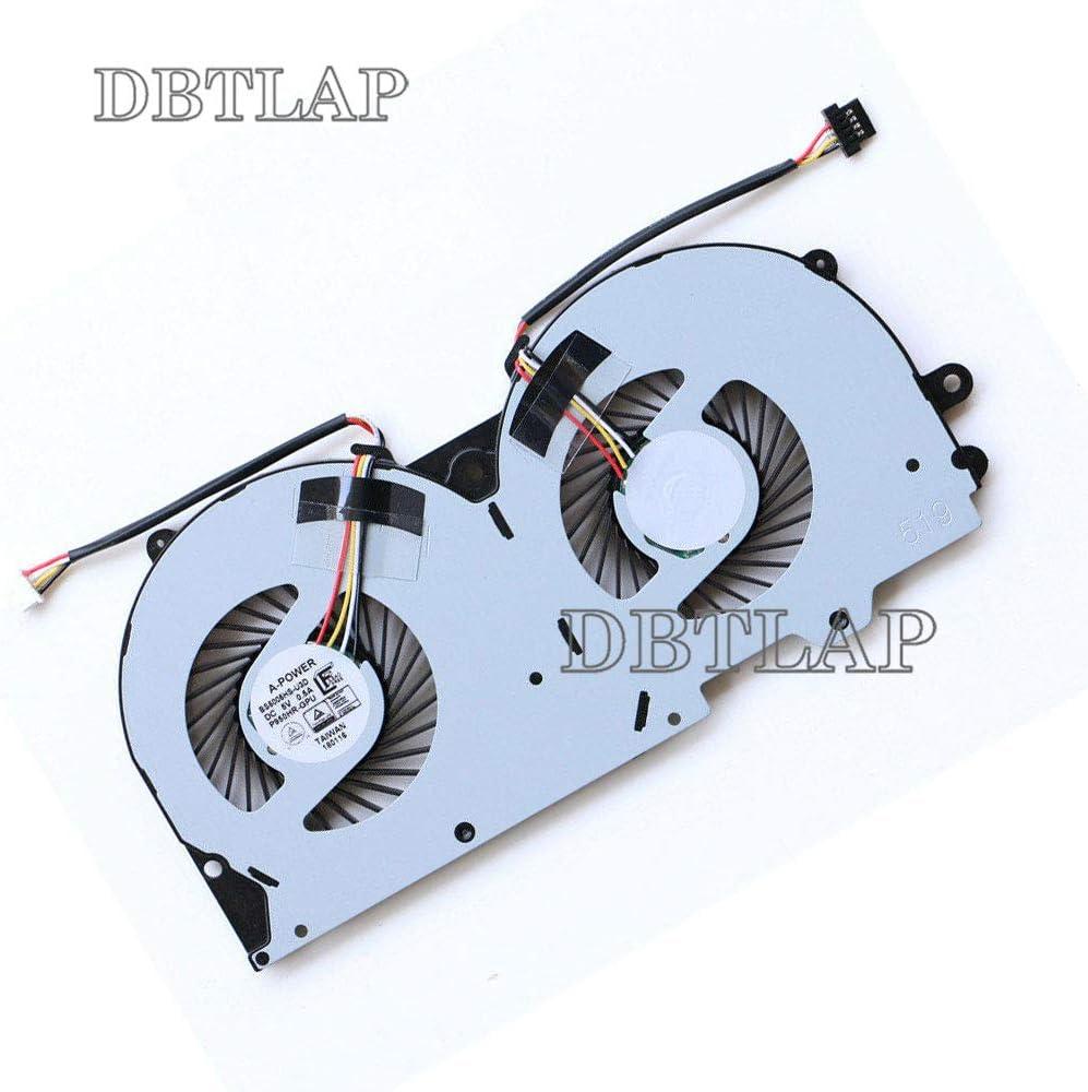 DBTLAP Laptop Fan Compatible for Clevo P950 P950HR GPU Cooling Fan BS500HS-U3D DC5V 0.50A 4-Wires