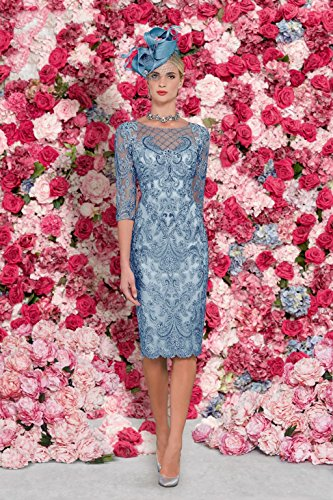 dressvip - Vestido - recto - para mujer Azul