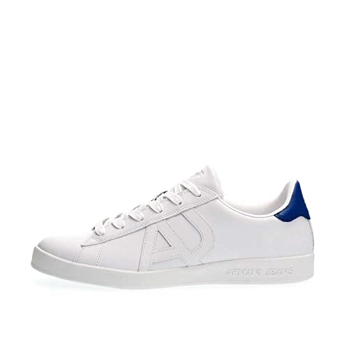 Armani Jeans Knit Runner Trainers White   JAS6SQRKU