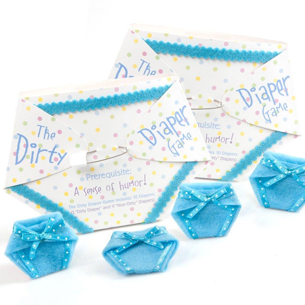 Amazon.com: El pañal sucio Juego – Baby Shower Game – Azul ...