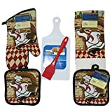 Mother's Day Gifts, Chef Theme Gift Set for Birthday, Graduation, Housewarming, College, 5 Pieces Bundled with Bow Ready to Give MD-04