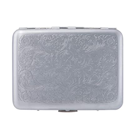 finest selection 13ad8 b6ac9 RFID Blocking Credit Card Holder/Protector - Best Metal/Stainless Steel  Travel Wallet/Case for Men & Women