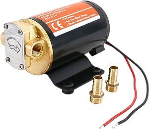 Amarine Made 12v Scavenge Impellor Gear Pump- For Diesel Fuel Scavenge Oil Transfer (Black)