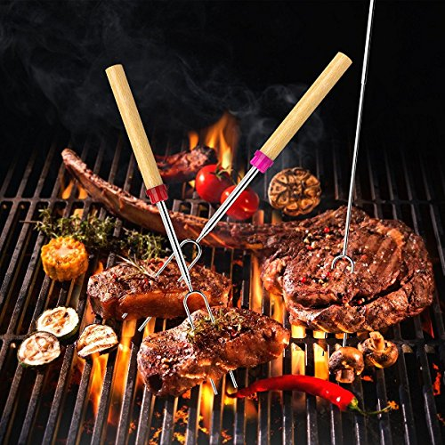Set-of-10-Roasting-BBQ-Sticks-with-Wooden-Handle-elescoping-Smores-Skewers-Hot-Dog-Forks-32-Inch-Fire-Pit-Camping-Cookware-Campfire-Cooking