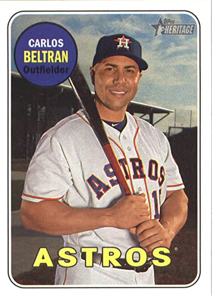 2018 Topps Heritage 148 Carlos Beltran Houston Astros At