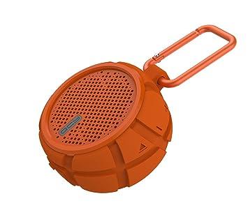 VANZEV Orange Bluetooth Lautsprecher Wasserdicht fur Outdoor und Indoor