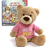 """Get Well Teddy Bear Plush(Pink), 12.5"""" and My Trip to the Hospital Book, The Perfect Feel Better set"""