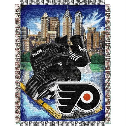 The Northwest Company Officially Licensed NHL Philadelphia Flyers Homefield Ice Advantage Woven Tapestry Throw Blanket, 48