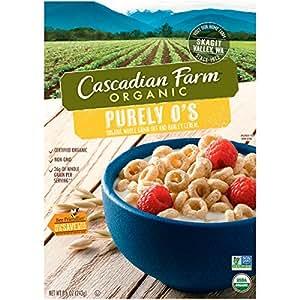 Cascadian Farm Cereal Organic Cereal, Purely O's, 8.6 Ounce