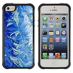 LASTONE PHONE CASE / Suave Silicona Caso Carcasa de Caucho Funda para Apple Iphone 5 / 5S / Blue Nature Forest Plants Life Art Wallpaper