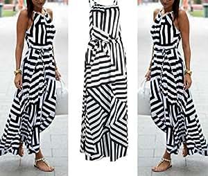 Arich Fashion Women Summer Dress Boho Maxi Long Evening Party Dress Sundress M