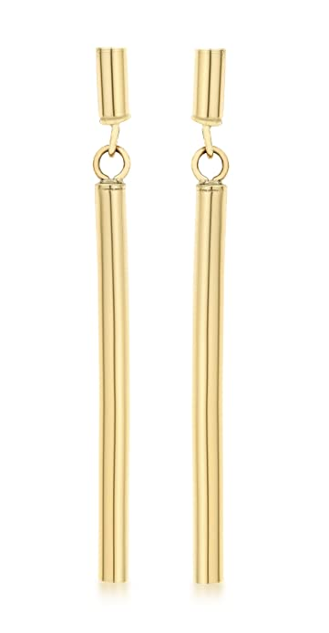Carissima Gold 9 ct Yellow Gold Twist Bar Drop Earrings 32PGqCEOC