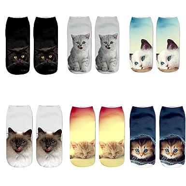 Aipark - Calcetines - para mujer gato Talla única