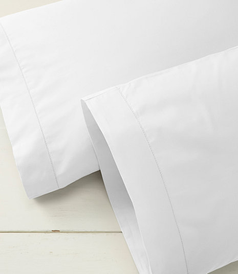 280-Thread-Count Pima Cotton Percale Pillowcases, Set of Two | Size: Standard; Color: White