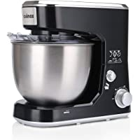 Cusimax Stand Mixer 5-Quart - 800W Tilt-head Electric Food Mixer with Stainless Steel Bowl, Dough Hook, Mixing Beater and Whisk, CMKM-150, Black