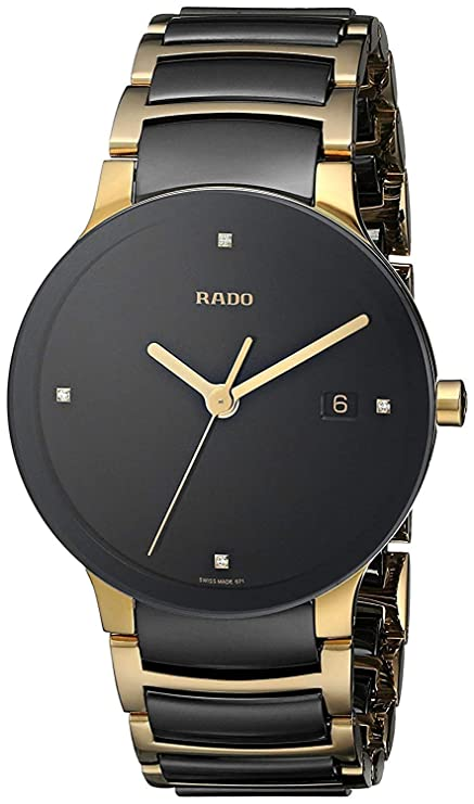 2ad915dc5 Amazon.in  Buy Rado Men s Watch (Gold Black) Stainless-Steel Swiss ...