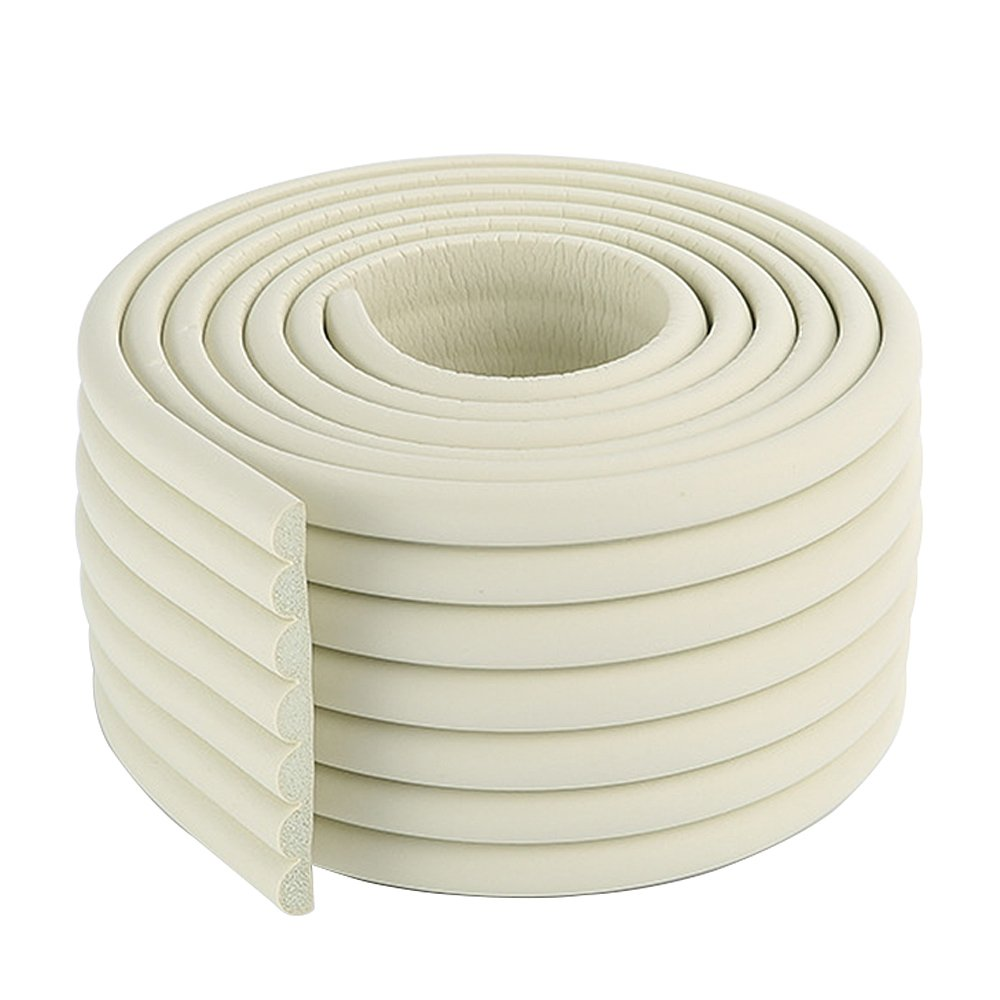 2x2m/13ft Cushiony Table Edge Guard Child Safety Corner Guards White Corner Guards Rubber