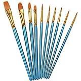 Hosaire 10 PCS/Lot Pinceaux de Peinture Artiste Brosses de Peinture Art Matériel de Peinture