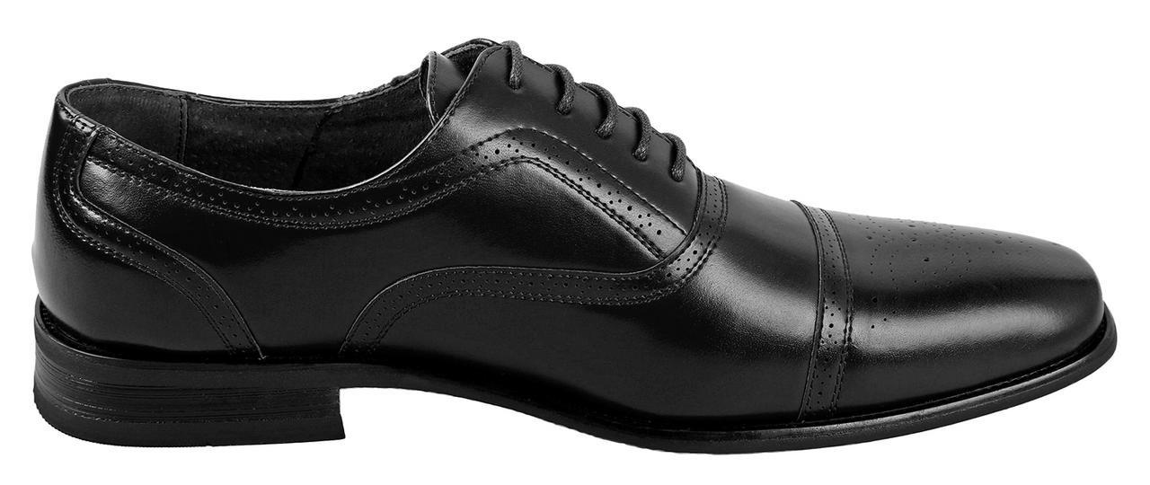 Delli Aldo Mens Wing Tip Dress Shoes   Comfortable Dress Shoes I Formal   Lace-Up   Classic Design   Black 10.5 by Delli Aldo (Image #2)