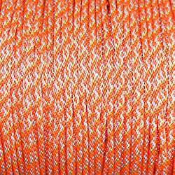 Dacron Polyester Pull Cord (#5) - SGT KNOTS - Solid Braid Rope - Small Engine Starter Rope - Replacement Cord Rope for Lawn Mowers, Leaf Blowers, Snowblowers, Generators, More (1,000 feet, Orange)