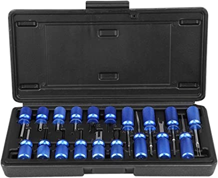 Qiilu Car Universal 19 Pcs Electrical Terminal Block Release Connector Removal Tool Kit Electrical Connector Terminal Release Removal Tool