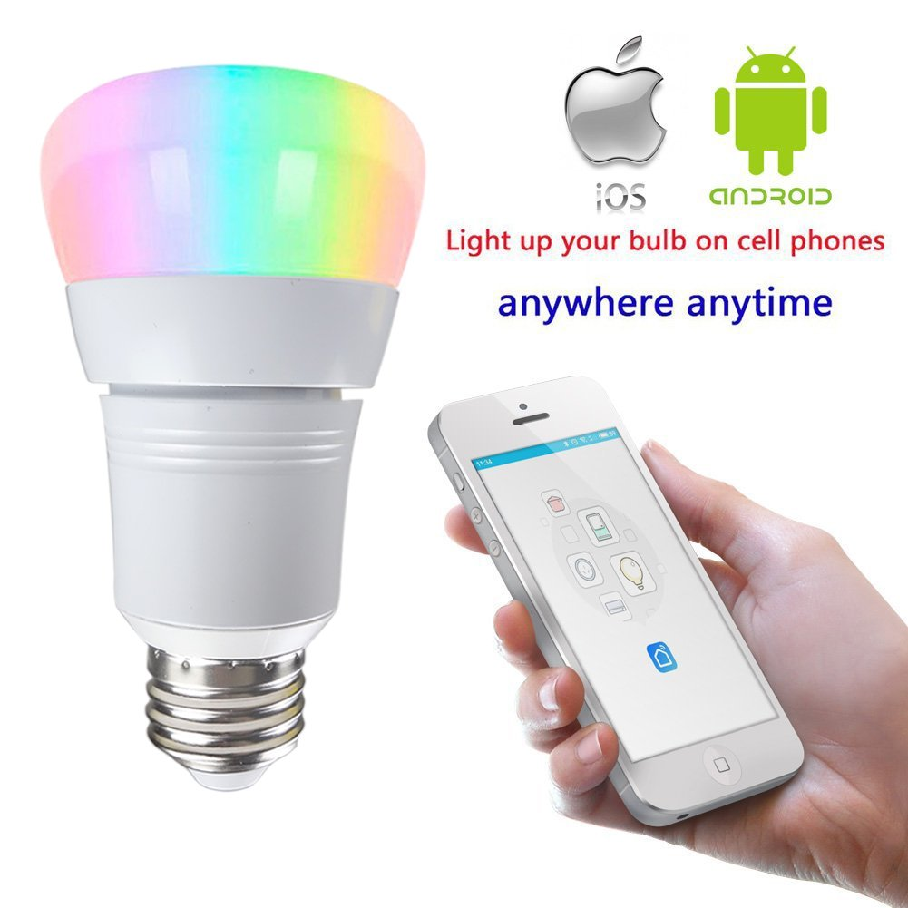 lakes led smart wifi light bulb 7w 60w incandescent equivalent