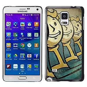 Vault Niños - Metal de aluminio y de plástico duro Caja del teléfono - Negro - Samsung Galaxy Note 4