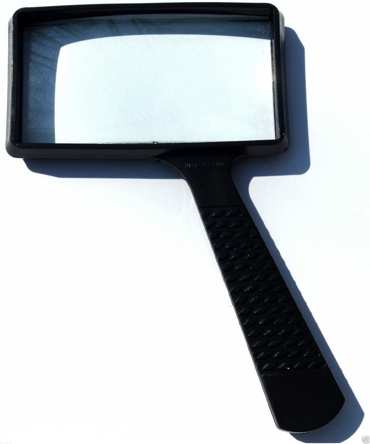 REAL GLASS LARGE 4x RECTANGLE MAGNIFYING GLASS NEW 4 x 2 MAGNIFIER