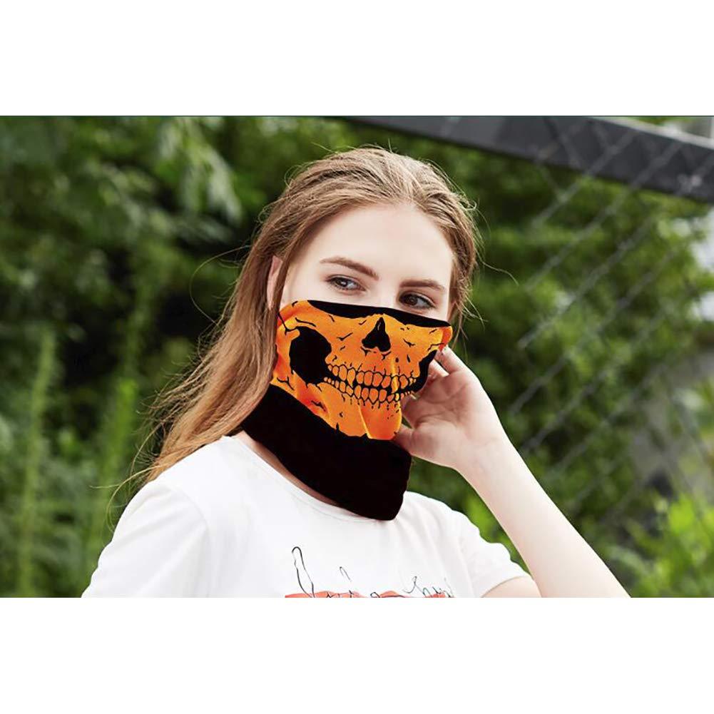 Orange Clothing Accessories Aardich 1pc Hooded Skull Scarf Winter Scarfs for Mens Ring Skull Mask Hooded Face Mask Male Fashion Sport Headband Wind Hood Balaclava Tube Neck Headscarf Headband