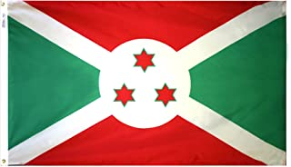 product image for Annin Flagmakers Model 191053 Burundi Flag 3x5 ft. Nylon SolarGuard Nyl-Glo 100% Made in USA to Official United Nations Design Specifications.