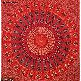 Red Mandala India Hippie Tapestry Hippie Tapestries Wall Tapestries Wall Hanging Indian Tapestry Bohemian Bedding Mandala Tapestry