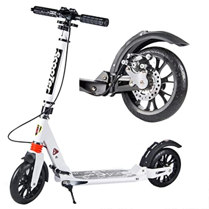 Amazon.com: LXLA - White Unisex Adult Kick Scooters with ...