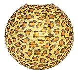 Quasimoon PaperLanternStore.com 14'' Cheetah Print Paper Lantern (10 Pack)