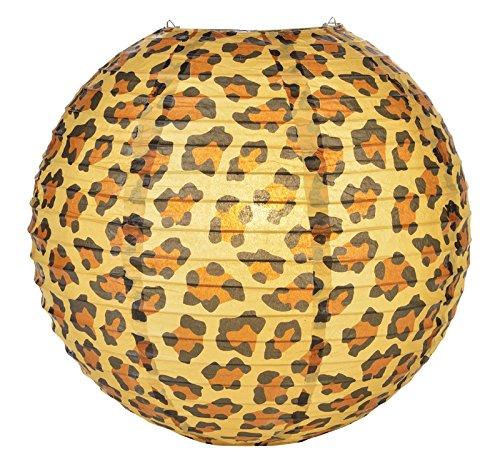 Quasimoon PaperLanternStore.com 14'' Cheetah Print Paper Lantern (10 Pack) by Quasimoon