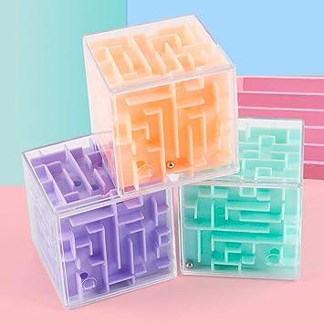Pudincoco Laberinto 3D Rotación de la bola Cubo Profesional Velocidad Puzzle Cubo con pegatinas Niños Cerebro Teaser Cubo Magico Juguetes: Amazon.es: Juguetes y juegos