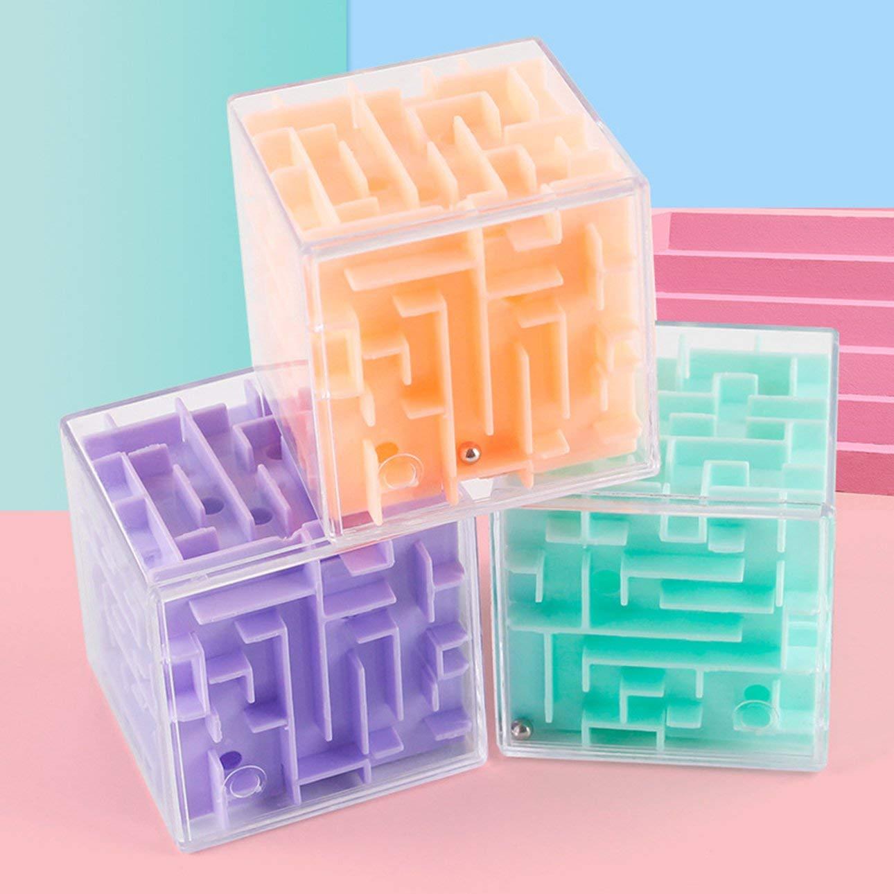 Pudincoco Laberinto 3D Rotación de la bola Cubo Profesional ...