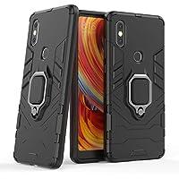Kompatybilne z Xiaomi Mi Mix 2S Etui Ochronne, Pierścień o 360 Obrót Magnetyczny Uchwyt na Telefon Komórkowy (Czarny)