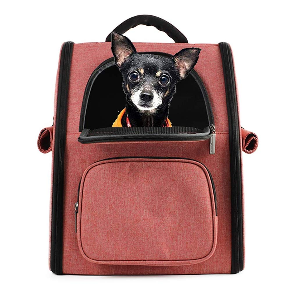 WLDOCA Zaino per Cani Gatto Morbida Pup Pack in Mesh per Borsa da Viaggio a Doppio Trasporto da Viaggio,rosa