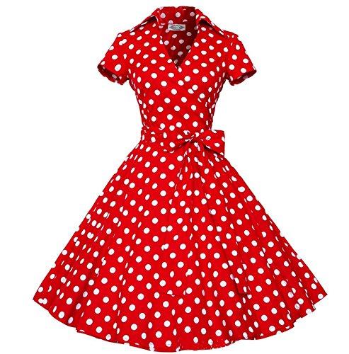 annes 50 60 Robes ceinture lgantes Dot Femmes bal 16 Rockabilly Polka annes rtro avec Vintage wBwxTZz