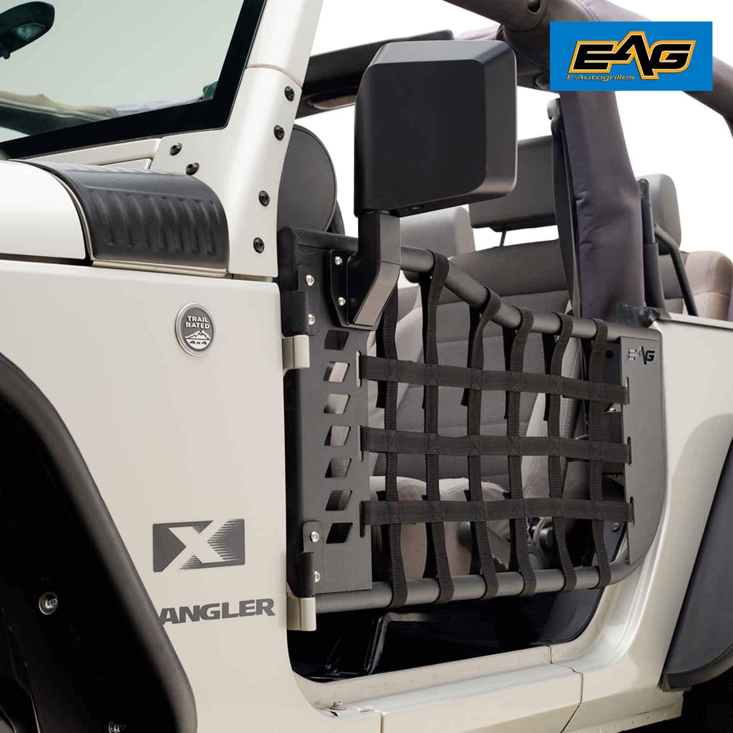 Off Road 2 Door Black Cargo Restraint Net System 4x4 for 07-18 Jeep Wrangler JK