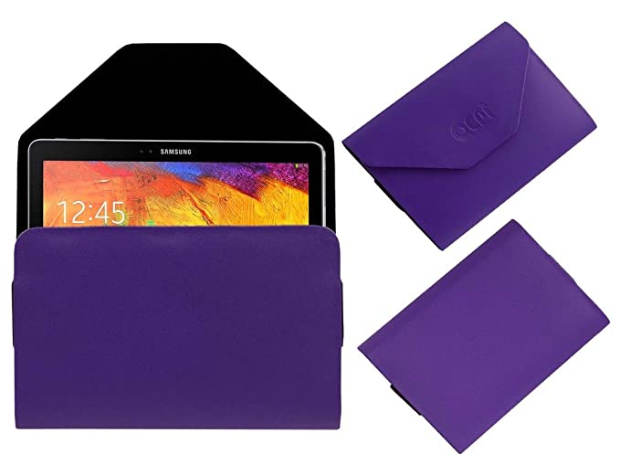 Acm Pouch Case Compatible with Samsung Galaxy Note 10.1 P6010 Flip Flap Cover Holder Purple Tablet Accessories
