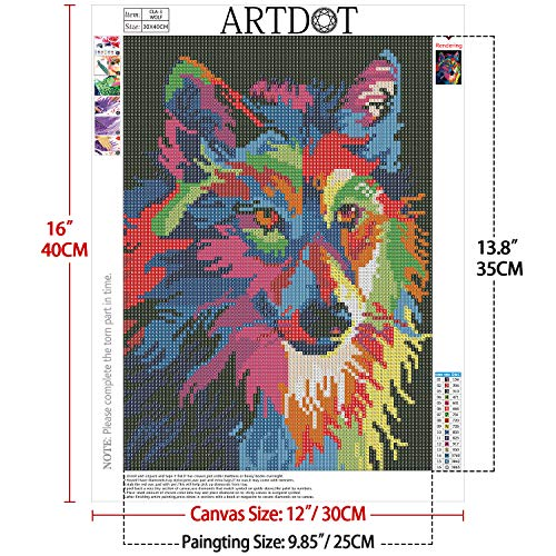 ARTDOT 4 Pack 5D Diamond Painting Kits for Adults Full Drill Diamond Art for Home Decor - 12x16 inches