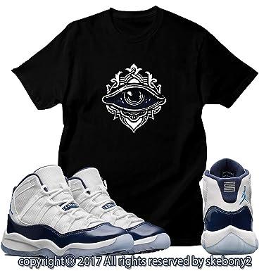 1792e39d849146 Custom T Shirt Matching AIR Jordan 11 Win Like  82 Navy JD-11-2-48 at  Amazon Men s Clothing store