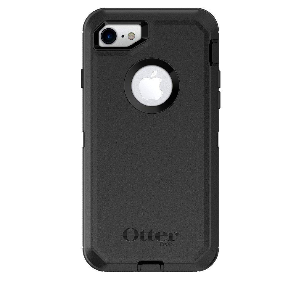 OtterBox DEFENDER SERIES Case & Holster for iPhone 7 / 8 Only (Not for PLUS) - Black (Certified Refurbished)