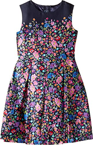 OSCAR DE LA RENTA Childrenswear Baby Girl's Chine Garden Mikado Party Dress (Toddler/Little Kids/Big Kids) Multi Dress ()