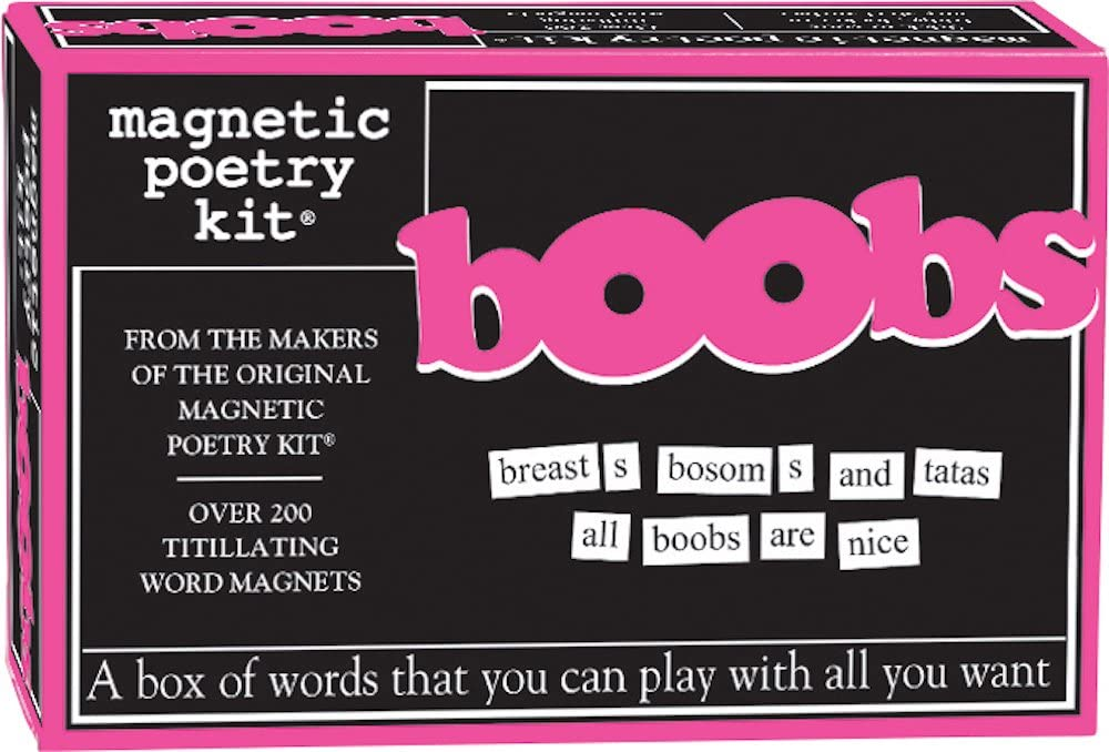 Magnetic Poetry - Boobs Kit - Words for Refrigerator - Write Poems and Letters on the Fridge - Made in the USA
