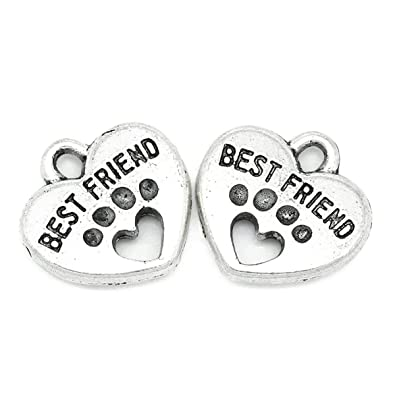 R 30x Charm Pendants Carved Letter Dog Paw Silver Tone 15mmx15mm SODIAL 5//8x5//8 inch -Jewellery Making Findings,DIY Crafts