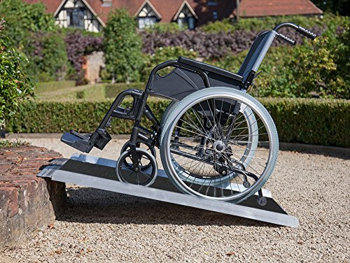 Clevr Extra Wide (36' X 31') Non-Skid Aluminum Wheelchair Loading Traction Ramp, Lightweight Folding Portable, Single Fold Wheelchair Scooter Ramp, Extra Wide 31', Holds up to 600 lbs